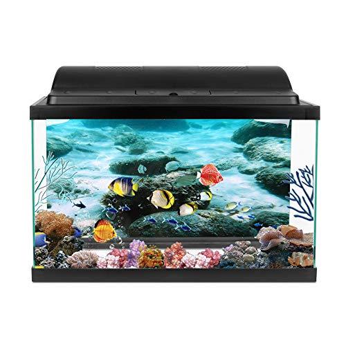 Fondo marino Roca Decoración del tanque de peces Fondo marino Patrón de roca Tanques de peces Papel tapiz para acuario Paisaje para vida acuática Tamaños(91 * 50cm)