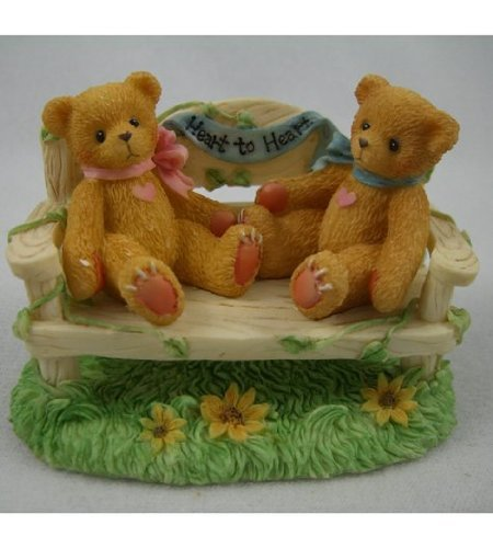 Price comparison product image Cherished Teddies - Two Bears on Bench - Event Figurine CRT240
