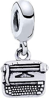 J&M Dangle Typewriter Charm for Bracelets