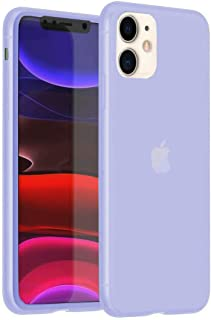 Enflamo Soft Silicone Fitted Skin Latex Case Back Cover for iPhone 11 (iPhone 11, 6.1 Inch, Purple)