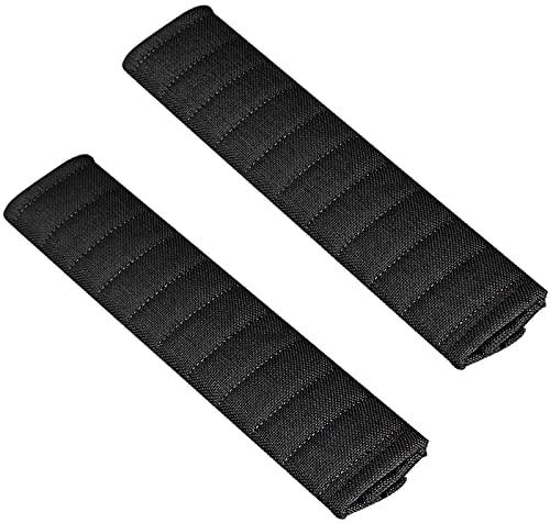 SacJkt Almohadillas Para Cinturón De Seguridad, Cómodo Protector De Hombro Para Cinturón De Seguridad, 2 Piezas Almohadillas Protectores Hombro Para Varios Coches (Negro, 26CM)