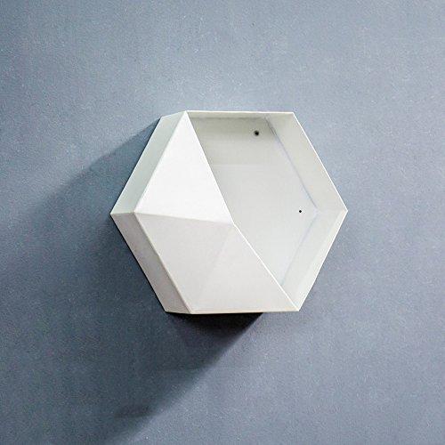 Étagère décorative scandinave créative (Couleur : Blanc, taille : 35 * 14.5 * 35cm)