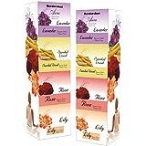 Devdarshan Aura Dry Dhoop Cones (Lavender, Sandalwood, Rose, Lily) Pack of 2 Boxes