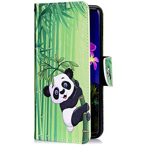 Uposao Kompatibel mit Xiaomi Mi 8 Handyhülle Leder Tasche Lederhülle Retro Bunt 3D Muster Schutzhülle Bookstyle Flip Case Wallet Cover Ständer Kartenfach Klapphülle,Cool Panda