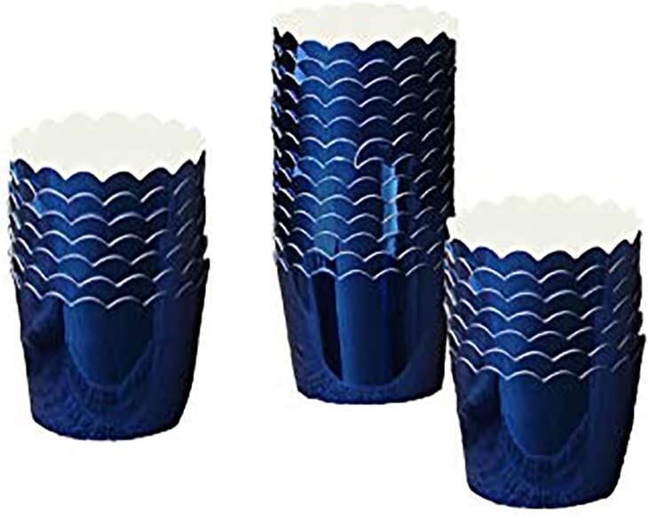 50 Pcs Paper Cupcake Liners Baking Cups, Holiday/Parties/wedding/Anniversary (Dark blue)