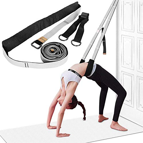 Yoga Fitness Stretching Strap - Back Bend Assist Trainer, Improve Leg Waist Back Flexibility for Rehab Pilates Ballet Dance Cheerleading Splits Gymnastics (Grey)