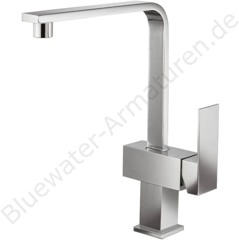 blueeWater Tgoldnto Chrome Kitchen Sink Mixer Tap, Kitchen Mixer Tap Designer Kitchen Sink Mixer Tap bluee Water Basin Mixer Tap for Washbasin Single-Lever Mixer Tap High Pressure Kitchen Sink Mixer Tap