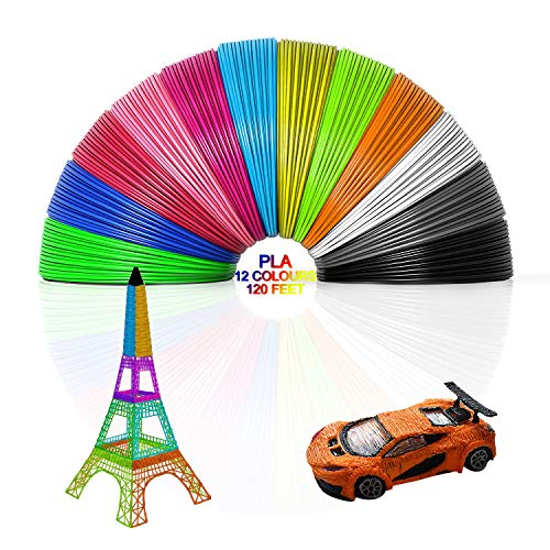 3D Pen/3D Printer Filament, 3D Pen Filament Refills 1.75mm PLA Filament...