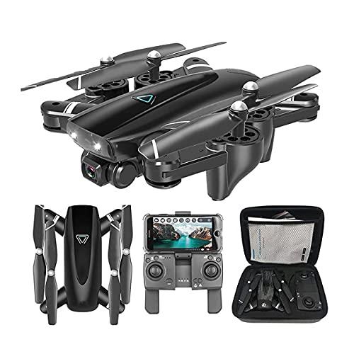 GZTYLQQ Drone con cámara de 1080p, Drone Plegable para niños y Adultos, Helicóptero de Cuatro Ejes Adecuado para Principiantes, Control de Altura, Sígueme, niño, niña y Adulto, Juguete de co