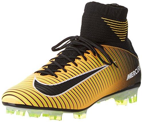 Nike Nike Herren Mercurial Veloce Iii Df Fg Fußballschuhe, Orange (Laser Orange/Black/White/Volt), 40.5 EU