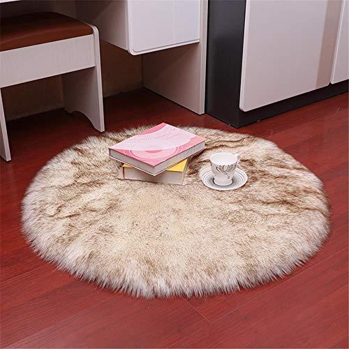 WBDYMX Moderno slaapkamertapijt, zacht, 5-6 cm, wasbaar, antislip, van wol van leer, 180 x 180 cm, 180 x 180 cm