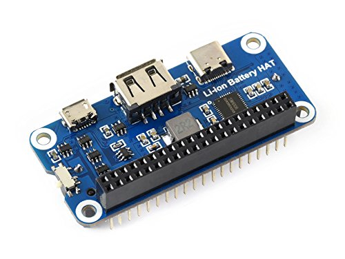 Waveshare Li-ion Battery HAT for Raspberry Pi 5V Regulated Output Bi-Directional Quick Charge