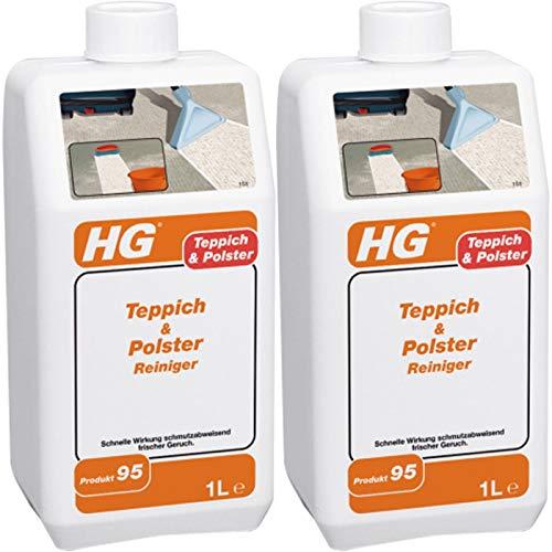 Gardopia Sparpaket: HG Teppich- und Polsterreiniger 2x 1 Liter - DIE schmutzabweisende Teppichreinigung
