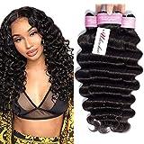 Brazilian Loose Deep Wave 3 Bundles 10 12 14inch 10A Grade Virgin Unprocessed Human Hair Bundles Mink Brazilian Deep Wave Hair Weave Extensions