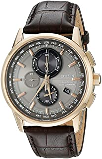 Citizen Men's Eco-Drive World Chrono Atomic Timekeeping Watch with Day/Date, AT8113-04H