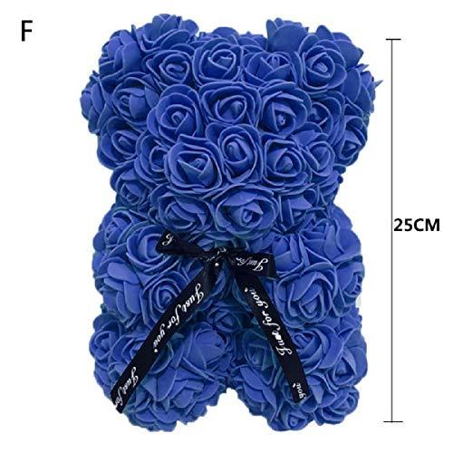 Valentine creatieve rozenbeer geschenk handgemaakte schattige zeep rozen beer gebouwd met kunstbloemen speelgoed beer voor verjaardag cadeau speciale dag geschenk