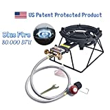 ARC USA, 2541R Super Propane Burner Stove, Propane Heavy Duty Cast Iron Burner, Portable Large Camping Stove BBQ with Hose & Regulator, Perfect for Outdoor Cooking (FH-2541R)