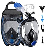 OMORC Diving Mask, 180°Panoramic View Foldable Snorkel Mask, Full Face Snorkel Mask
