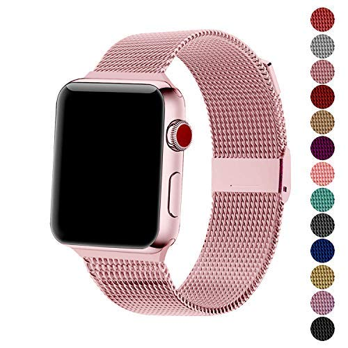 SexHope Compatible for Apple Watch Band 38mm 42mm 40mm 44mm Series 5 4 3 2 1 (Rose Gold, 38mm/40mm)