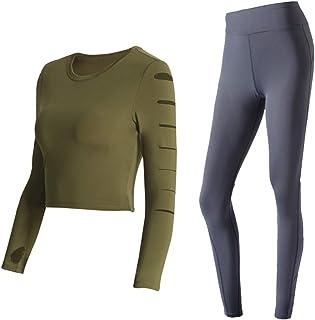 Yoga Wear Women's Sport Suits Thumb Sleeve Sweatsuits Yoga Jogging Tracksuits