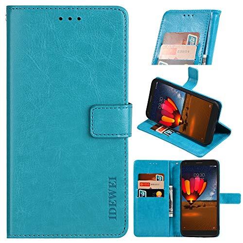 BellaHülle ZTE Axon 20 5G Handyhülle Hülle Leder Flip Hülle [Kartenfach] [Standfunktion] [Magnetschnalle] Wallet Cover für ZTE Axon 20 5G Smartphone(Himmelblau)