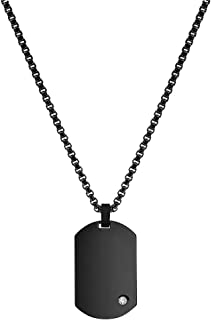 Men's Engraving-Stainless Steel Dog Tag Pendant Necklace...