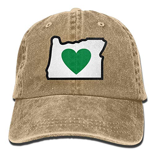 YHDE Heart In Oregon Vintage Jeans Baseball Cap Outdoor Sports Hat for Men and Women