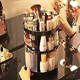 Patrick Maquillaje Organizador Giratorio,Caja giratoria de Cristal de 360 Grados para cosméticos,Soporte de Maquillaje para tocador,Dormitorio,baño