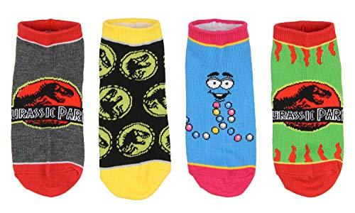 Bioworld Jurassic Park Socken Kinder T-Rex Dinosaurier Welt Knöchel Keine Show Socken - 5er-Pack