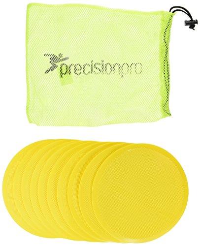 Precision - Dischetti indicatori Piatti e Rotondi, Accessorio per Allenamento, Giallo (Giallo), 21 cm