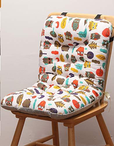Waigg Kii Cojín de asiento para silla, cojín de respaldo alto, cojín de respaldo alto, cojín de respaldo para oficina, comedor, jardín (patrón 2,78 x 42 cm x 8 cm)