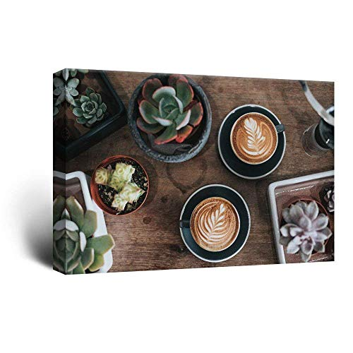 Nobrand canvasdruk Home Decoration Canvas Painting 1 stuk Coffee Drink Pictures Wall Art Prints Plant More Meat Modular Poster voor de woonkamer