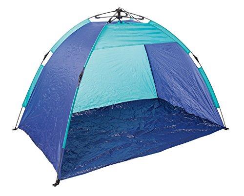 Idena 40065 - Automatic Strandzelt mit UV Schutz 40+, ca. 1,9 x 1 x 1,1 m, leicht und kompakt für den Transport, ideal für Strand, Freibad, Garten und im Urlaub
