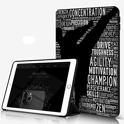 She Charm Carcasa para iPad 10.2 Inch, iPad Air 7.ª Generación,Gráficos de Karate,Incluye Soporte magnético y Funda para Dormir/Despertar