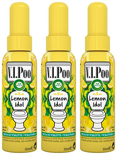 Air Wick Spray V.I. Poo Perfume Anti Olor, Fragrancia Lemon Idol 55ml- Paquete de 3 unidades