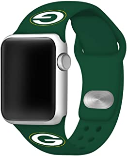 Game Time Green Bay Packers Silicone Sport Band Compatible with Apple Watch - Band ONLY (42mm/44mm)