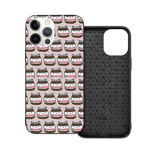 Nutella Pattern - Carcasa para iPhone 12/12 Pro Max, 6.1 pulgadas, resistente a prueba de golpes
