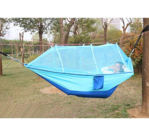 Xcellent Global Hamac, Filet, moustiquaire, Parachute, en Nylon, lit Portable pour l'extérieur, Les Voyages, Le Camping SP039