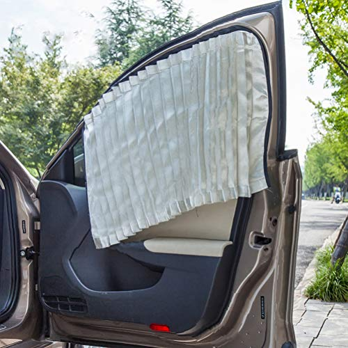 ZATOOTO Car Side Window Sun Shade - 2 PCS Silver Magnetic Privacy Sunshades Window Curtain Keeps Cooler Screen for Baby Sleeping(Magnet Silver-2 pcs)