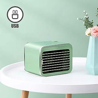 TopJiä Escritorio Ventilador Móvil Aire Acondicionado,Personale Enfriador Humidificador Purificador para Oficina Dormitorio Hogar,Portátil Enfriador De Aire Mini Air Cooler Verde