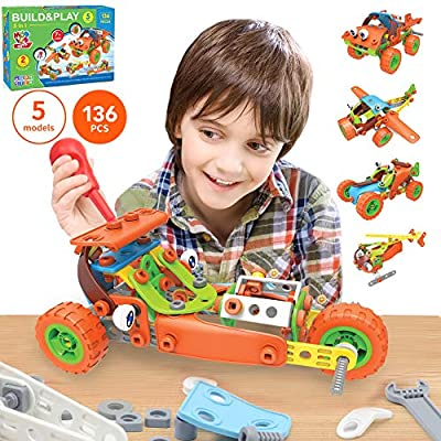 136 PCS STEM Learning Toys - Educational Engineering and DIY STEM Construction Kit - Best Building Set for 6 7 8 9 10+ Year Olds Boys & Girls That Love to Build - Creative Stem Gift Play Set for Kids by MOBIUS Toys