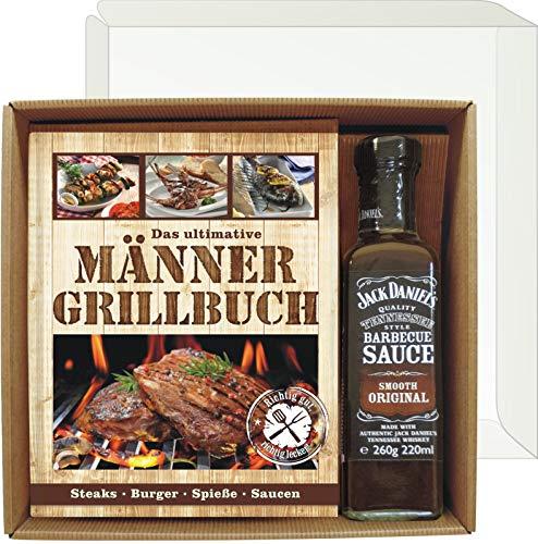 Andrea Verlag Das ultimative Männer Grillbuch Profi Set's für Männer (Männer Grillbuch mit Jack Daniel's BBQ Sauce 22507) Grill Buch