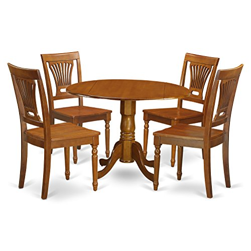 5 Pc Kitchen nook Dining set-small Kitchen Table and 4 Dining Chairs