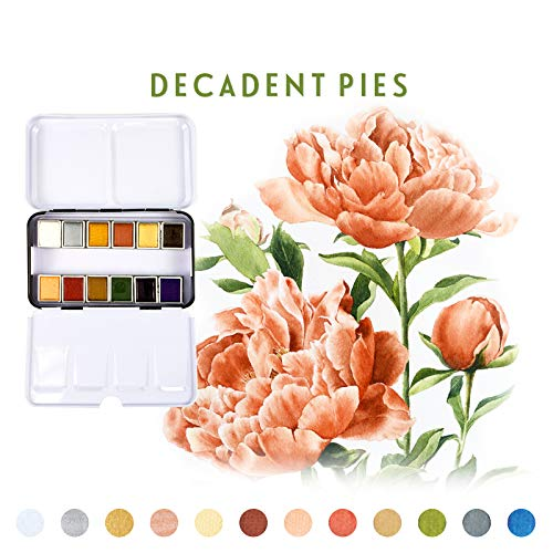 Prima Marketing Watercolor Confections Watercolor Pans 12/PK-Decadent Pies