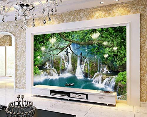 Nomte Gebruikergedefinieerde behang fantasie bos cartoon kinderkamer achtergrond muur wooncultuur woonkamer slaapkamer tv 3D wallpaper 150x105cm