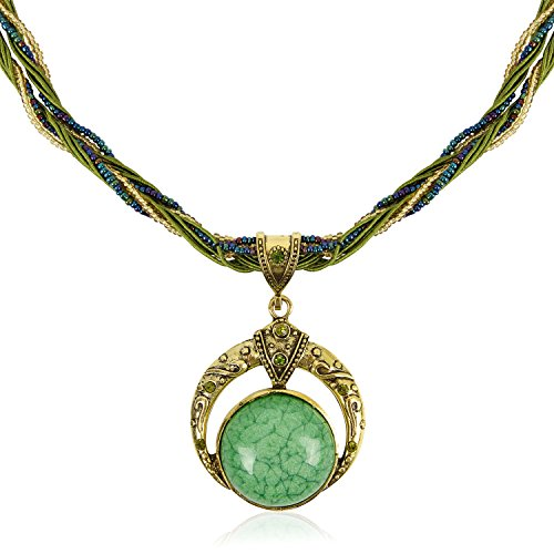 Signore-Signori Handmade Antique Retro Sueño Full Moon Collar, Bisutería Vintage