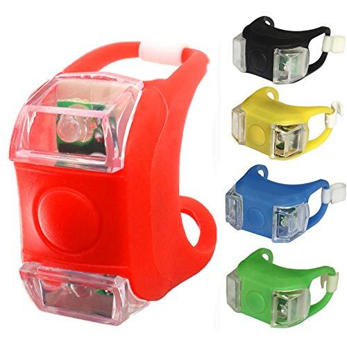 BelonLink Fanale Posteriore per Bicicletta, Luce Posteriore per Bicicletta, 3 modalità di luminosità, Lampada a LED, Potente, Impermeabile, per Ciclismo, MTB, Corsa su Strada, 5 Pezzi