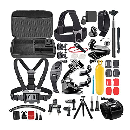 LingoFoto 21-In-1 Accessories Kit for Gopro Hero 9 8 7 6 5 4, Action Camera Accessories for Xiaomi Yi 4K/WiMiUS/Lightdow/DBPOWER
