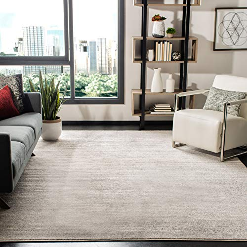 Safavieh Adirondack Collection ADR113B Ivory and Silver Modern Abstract Square Area Rug (10' Square)