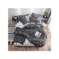 SHT 四ピース綿の寝具のファッション新鮮でシンプルな3ピース布団カバー (Color : Style 19, Size : 1.0m 3pieces)